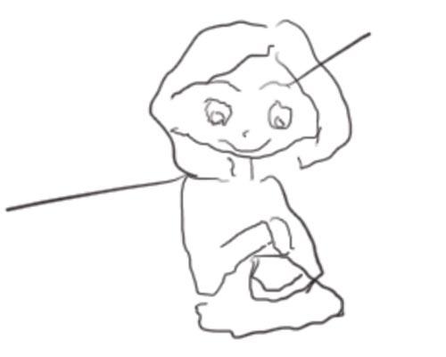 poulette de bresse essaie de dessiner dans le bus