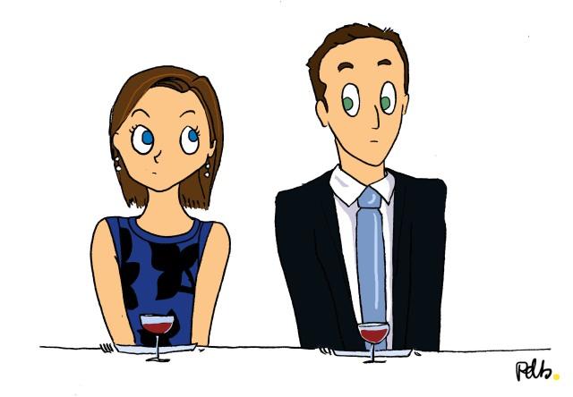 La rencontre - illustration de mariage par Poulette de bresse
