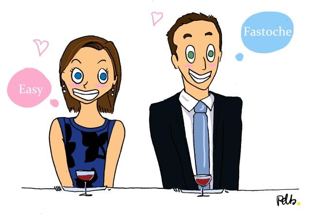 Illustration mariage -  la rencontre des futurs mariés - poulette de bresse