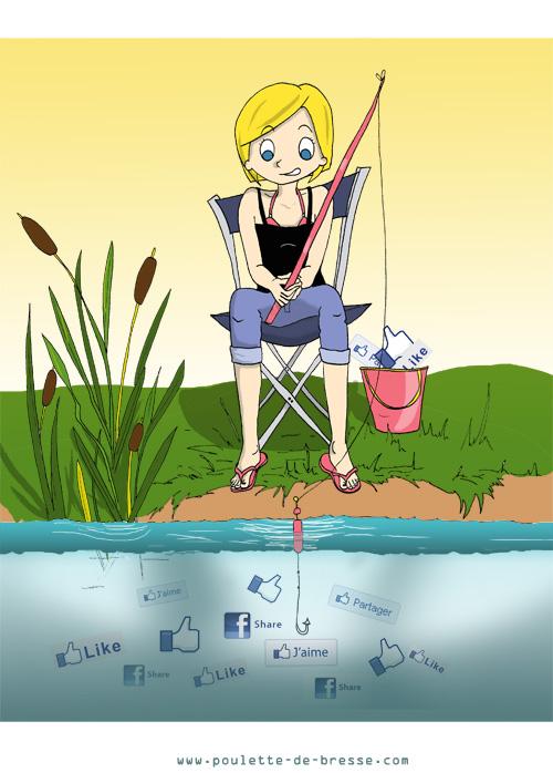 Poulette de Bresse part à la pêche aux partages Facebook !