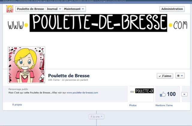 100 likeurs pour la page facebook poulette de bresse
